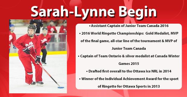 Sarah-Lynne Begin.